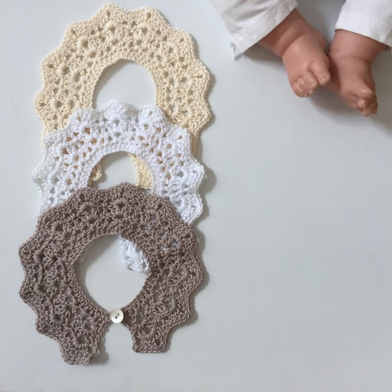 - SPITZENKRAGEN Baby Kind für festliche Anlässe gehäkelt in Handarbeit vom zimtbienchen - SPITZENKRAGEN Baby Kind für festliche Anlässe gehäkelt in Handarbeit vom zimtbienchen