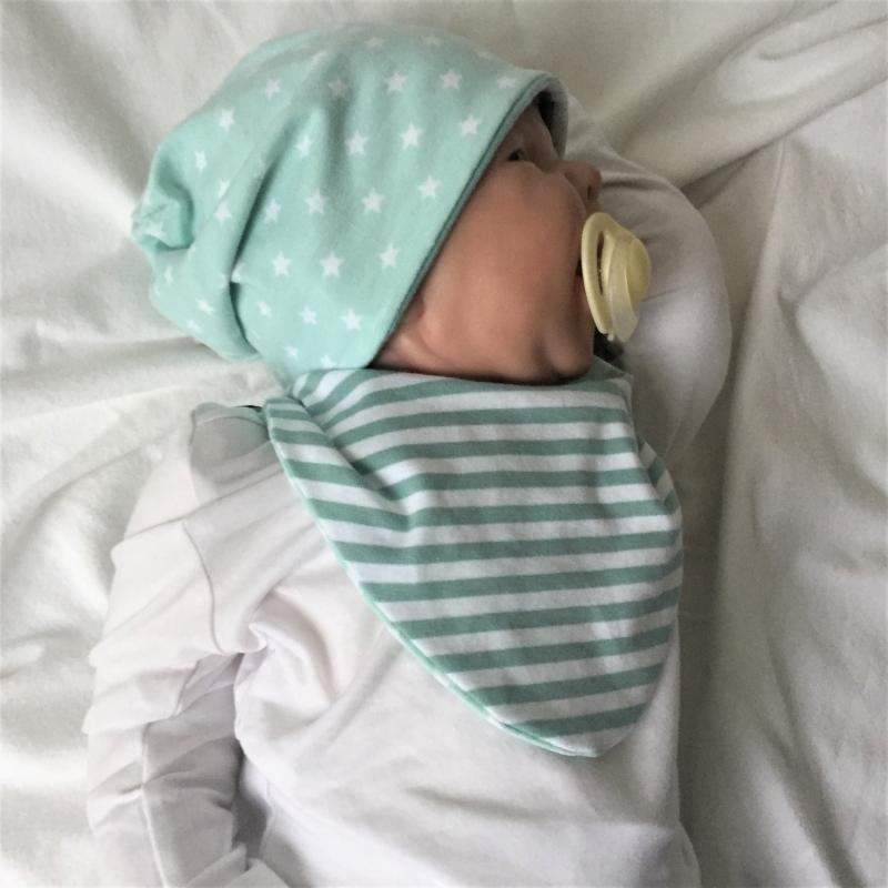 - 2teil. Neugeborenen Set * STERN * Halstuch  und Beanie für Baby von zimtbienchen - 2teil. Neugeborenen Set * STERN * Halstuch  und Beanie für Baby von zimtbienchen