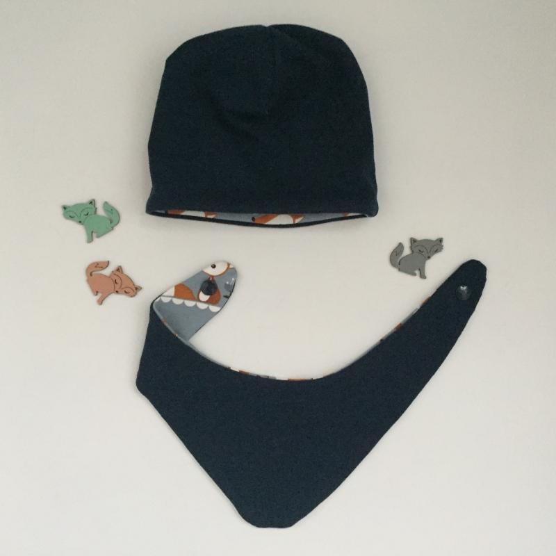 Kleinesbild - Mützchen Halstuch Set  ** FUCHS ** für Neugeborene BIOBaumwolle 2 Teile  vom zimtbienchen
