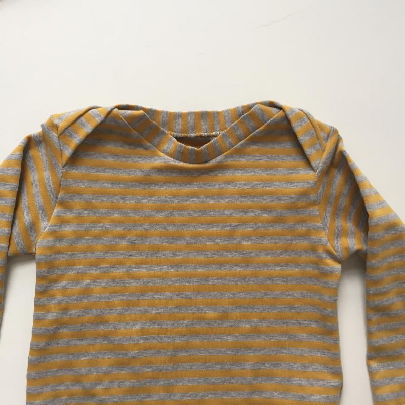 Kleinesbild - Baby  * BASIC * Shirt T-Shirt mit Langarm Handarbeit von zimtbienchen aus BIOBaumwolle