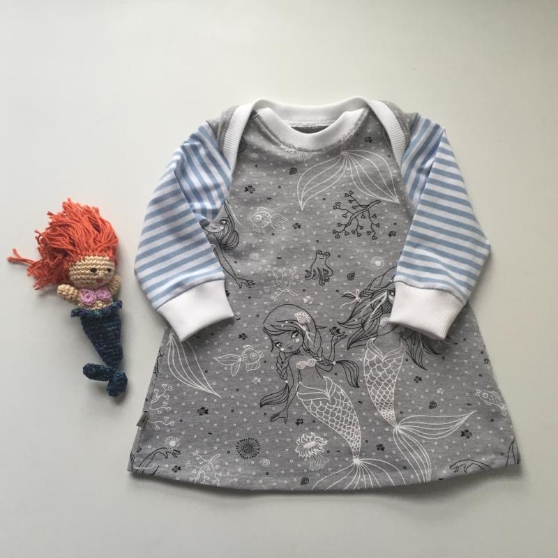 -  Kleidchen * MEERJUNGFRAU * ab Gr. 56  Baby / Kind mit Langarm Handarbeit von zimtbienchen  -  Kleidchen * MEERJUNGFRAU * ab Gr. 56  Baby / Kind mit Langarm Handarbeit von zimtbienchen