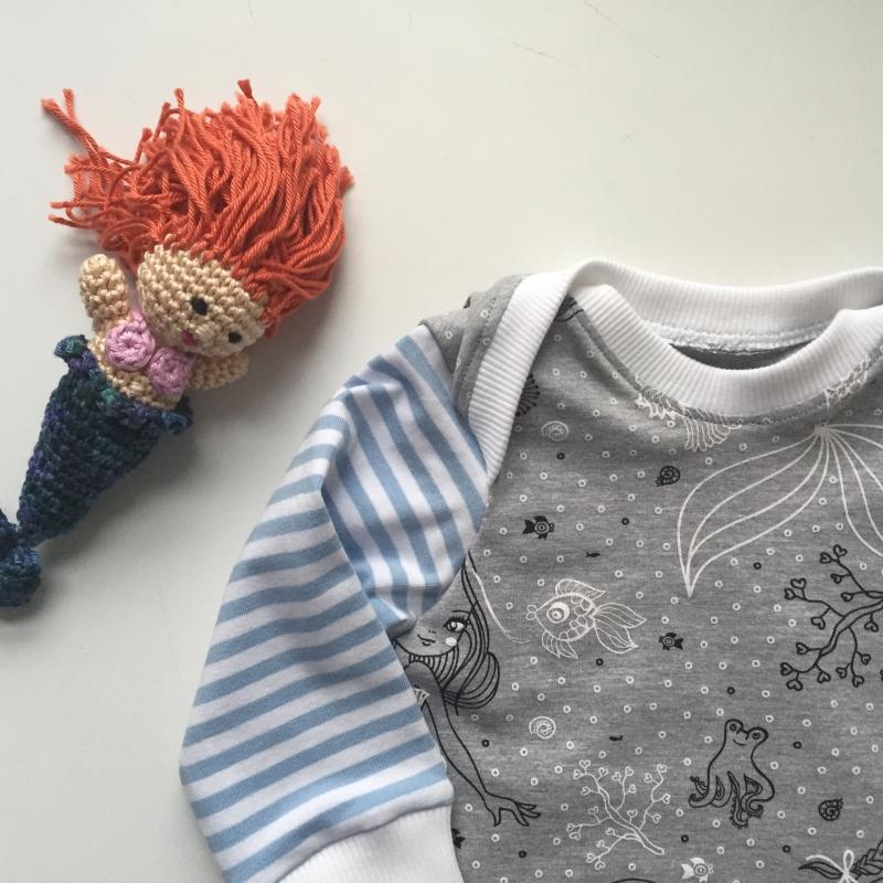 Kleinesbild -  Kleidchen * MEERJUNGFRAU * ab Gr. 56  Baby / Kind mit Langarm Handarbeit von zimtbienchen