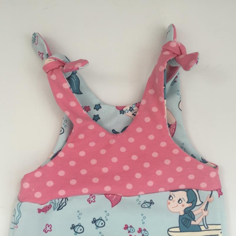 Kleinesbild - kurzer Baby Overall  ** MEERJUNGFRAU **  vom zimtbienchen  ab Gr. 50 handmade