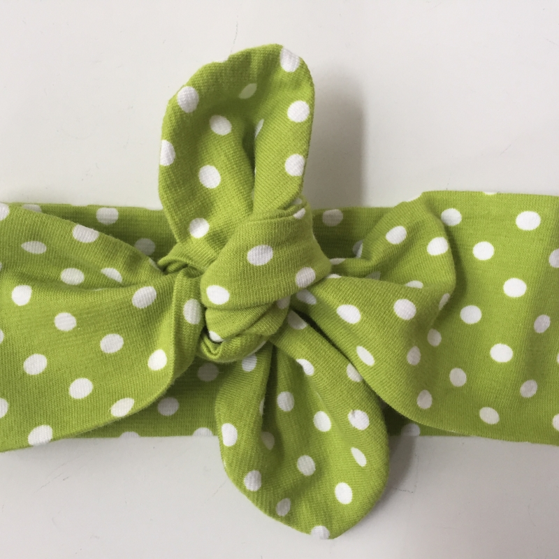 Kleinesbild - Haarband Stirnband grün *DOTTI* 3 Größen vom zimtbienchen Handarbeit für  Baby - Kind