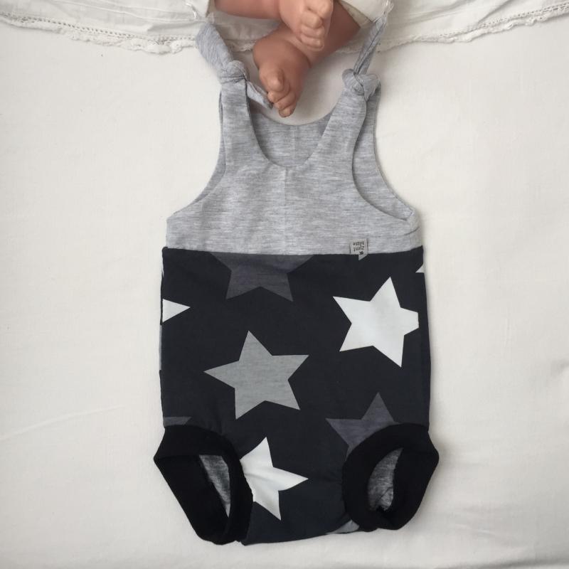 - kurzer Baby Strampler * STAR * Jumper vom zimtbienchen  ab Gr. 50 handmade  - kurzer Baby Strampler * STAR * Jumper vom zimtbienchen  ab Gr. 50 handmade