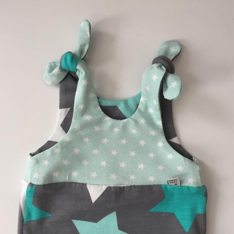 Kleinesbild - kurzer Baby Strampler * STAR * Jumper vom zimtbienchen  ab Gr. 50 handmade