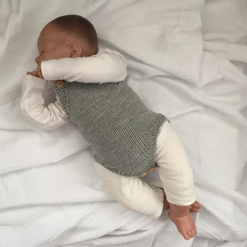 Kleinesbild - Strampler Baby * LASSE * Jumper handgestrickt vom zimtbienchen