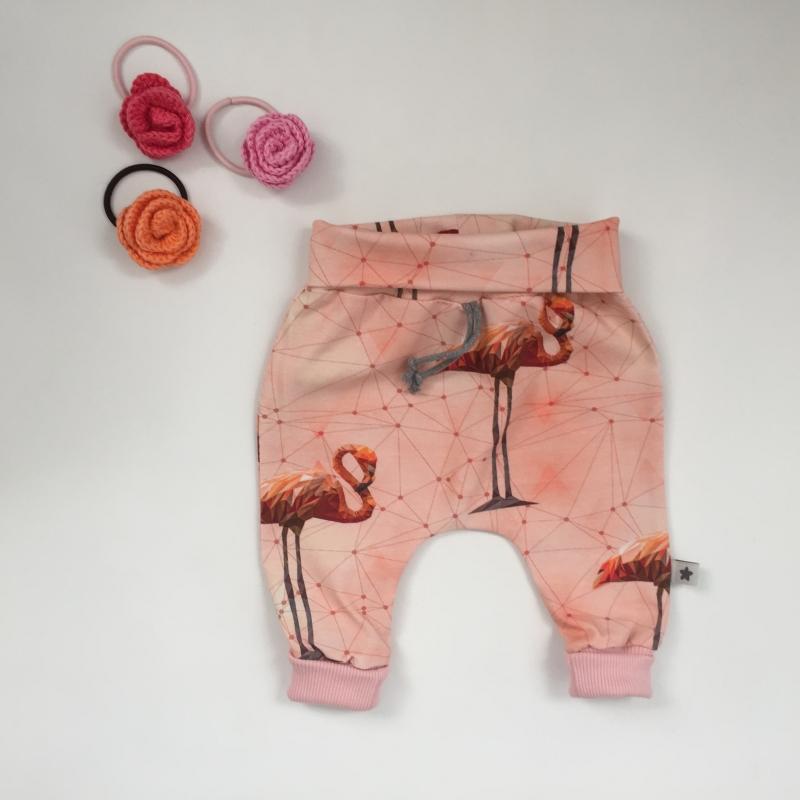 - Pumphose Mitwachshose FLAMINGO handmade von zimtbienchen Gr.44-80 Baby / Kind     - Pumphose Mitwachshose FLAMINGO handmade von zimtbienchen Gr.44-80 Baby / Kind