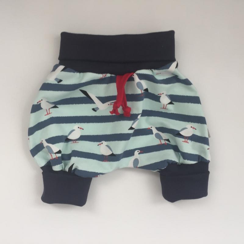 - kurzes Pumphöschen AHOI MÖWE  handmade von zimtbienchen Gr.50 - 80 Baby / Kind     - kurzes Pumphöschen AHOI MÖWE  handmade von zimtbienchen Gr.50 - 80 Baby / Kind