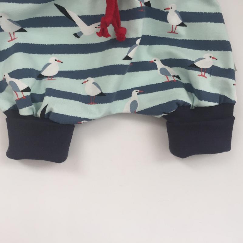Kleinesbild - kurzes Pumphöschen AHOI MÖWE  handmade von zimtbienchen Gr.50 - 80 Baby / Kind