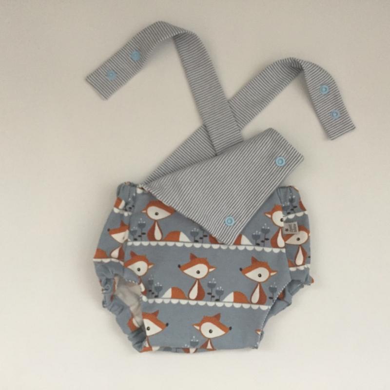 Kleinesbild -  Latzhose  FOXI kurzer Spieler Romper für Baby und Kind vom zimtbienchen 50/98  Romper