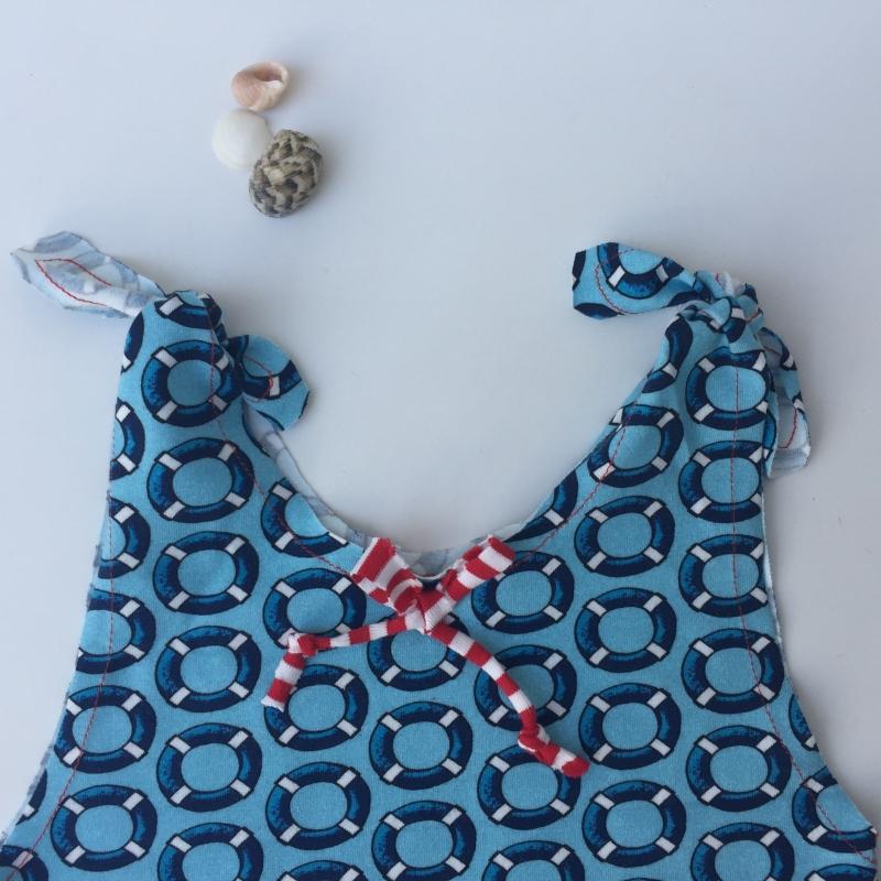 Kleinesbild - WASSERFROSCH Baby Kind Overall Jumper Romper  aus Baumwolljersey vom zimtbienchen für Mädchen und Jungen bis Größe 104