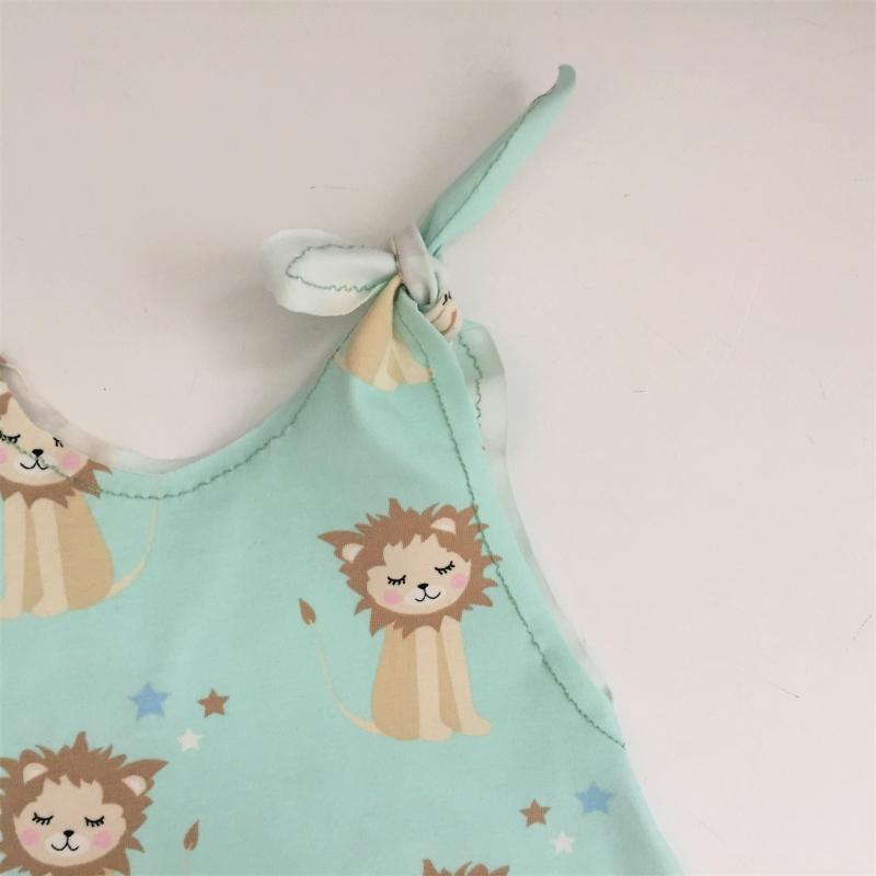 Kleinesbild - LÖWENKIND Baby Kind Overall Jumper Romper  aus BIO Baumwolljersey vom zimtbienchen für Jungen und Mädchen