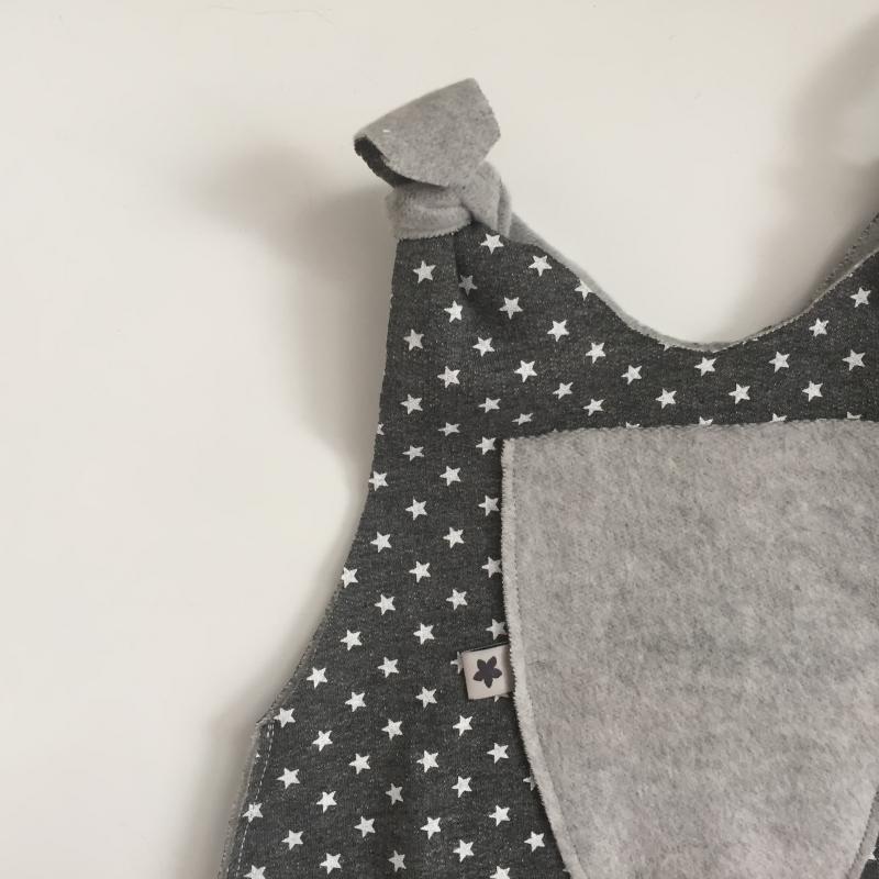 Kleinesbild - SUPERSTAR Baby Kind Overall Jumper Romper  aus Baumwollsweat vom zimtbienchen für Jungen und Mädchen