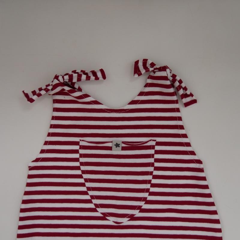 Kleinesbild -  Baby Kind Overall Jumper Romper  Streifen aus Baumwolljersey vom zimtbienchen für Jungen und Mädchen