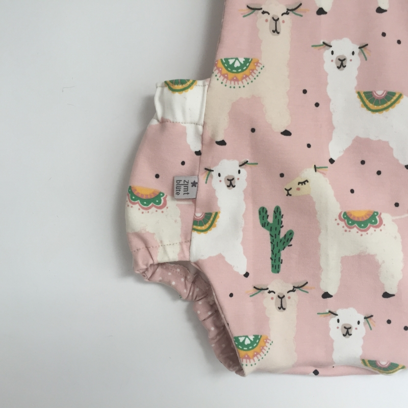 Kleinesbild -  Latzhose  LAMA Jumper Spieler Romper für Baby und Kind vom zimtbienchen 50/98  Romper