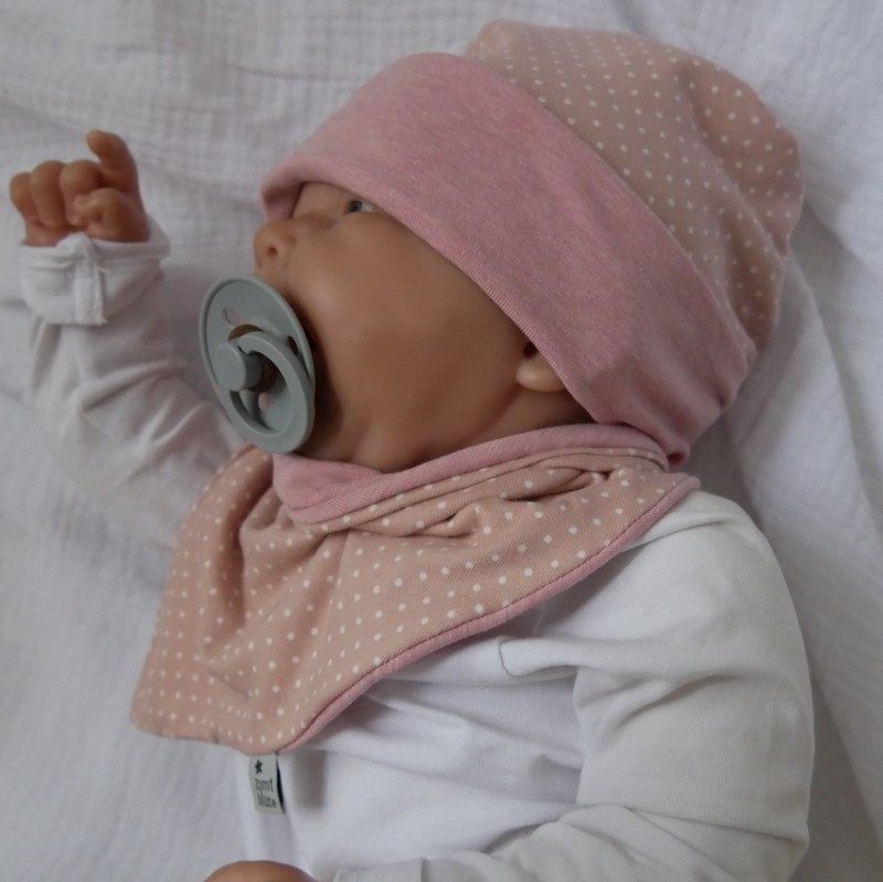 Kleinesbild - Wendebeanie mit PÜNKTCHEN Baby Kind Mützchen von zimtbienchen verschiedene Größen