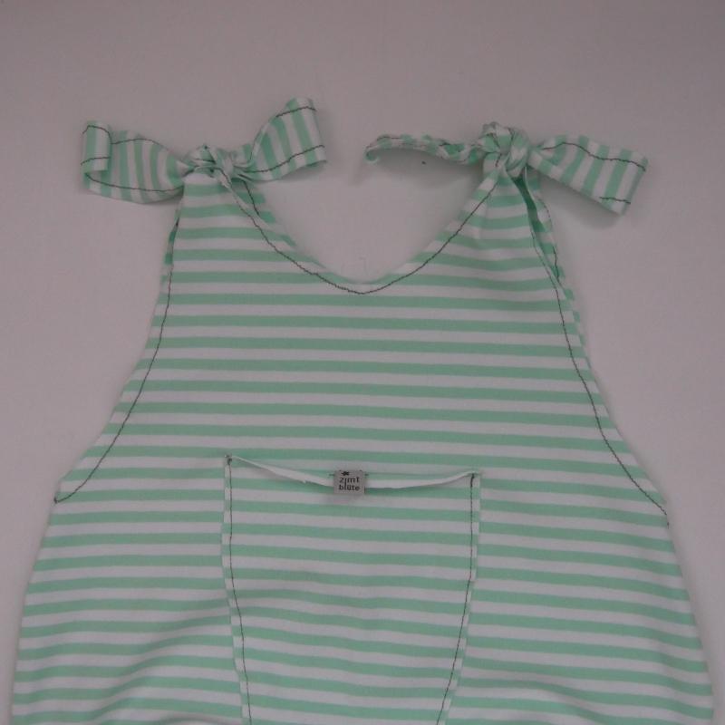 Kleinesbild -  Baby Kind Overall Jumper Romper STREIFEN  3 Farben Baumwolljersey vom zimtbienchen 3 Farben Jungen und Mädchen
