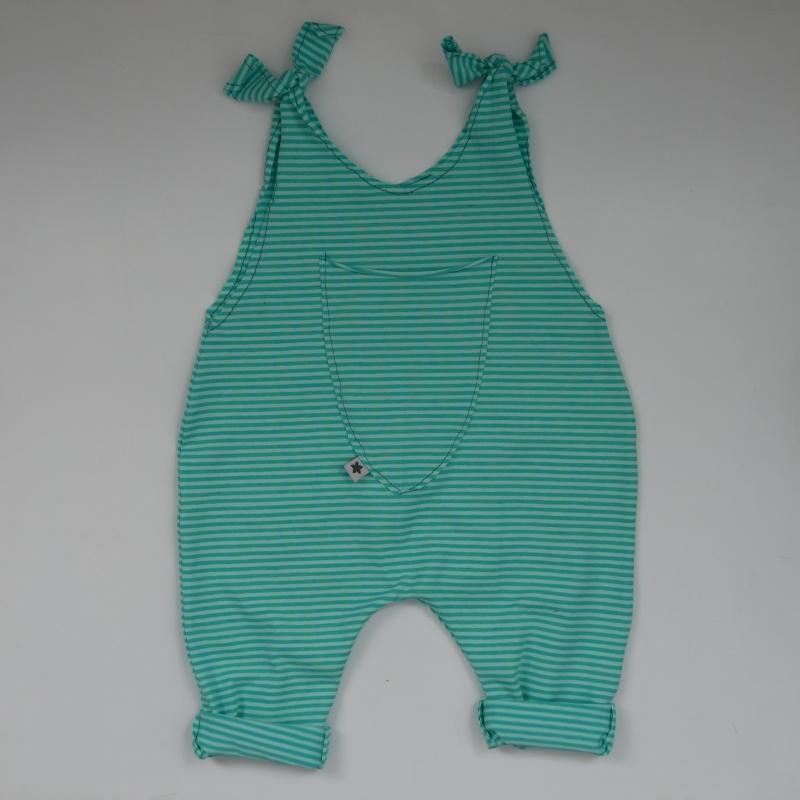Kleinesbild - JOLLY  Baby Kind Jumper Romper Türkis oder ROSA Baumwolljersey vom zimtbienchen Jungen und Mädchen
