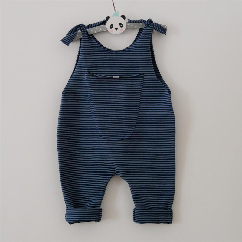 - DUNKELBLAU  Baby Kind Jumper Romper mit Streifen vom zimtbienchen Jungen und Mädchen   - DUNKELBLAU  Baby Kind Jumper Romper mit Streifen vom zimtbienchen Jungen und Mädchen