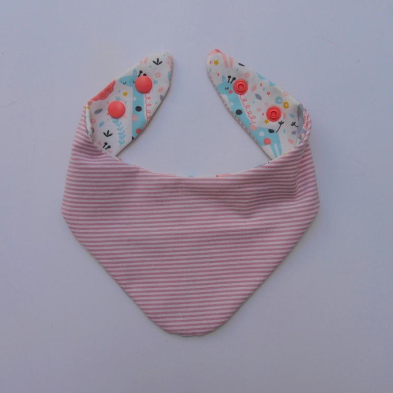 Kleinesbild - Halstuch Modell DSCHUNGEL BIO Baumwolle handmade genäht vom zimtbienchen zum wenden
