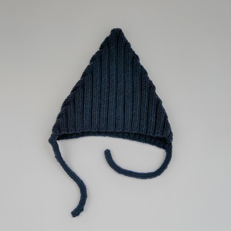 Kleinesbild - Jeans Blau Babymütze Modell ZWERGLEIN handgestrickt von zimtbienchen ab 36cm KU