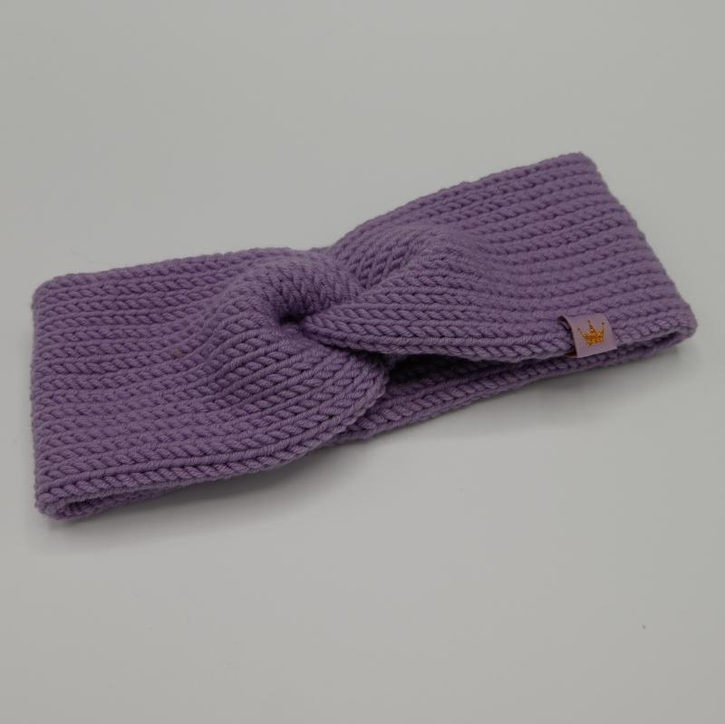 Kleinesbild - CAROLIN  double Stirnband für Mädchen Stirnband mit Twist handgestrickt