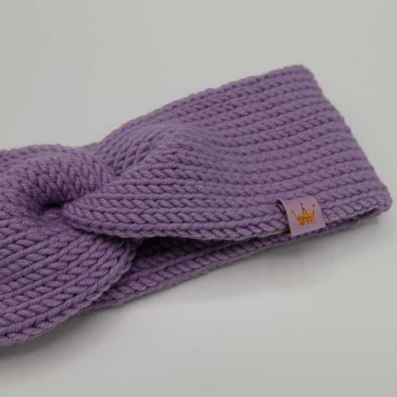 Kleinesbild - zimtbienchen Stirnband mit Twist handgestrickt  CAROLIN  double Stirnband für Mädchen