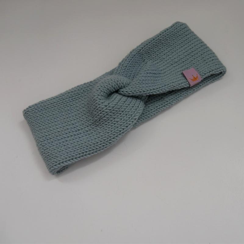 Kleinesbild - Dustymint Stirnband mit Twist CAROLIN double zimtbienchen Turban für Mädchen