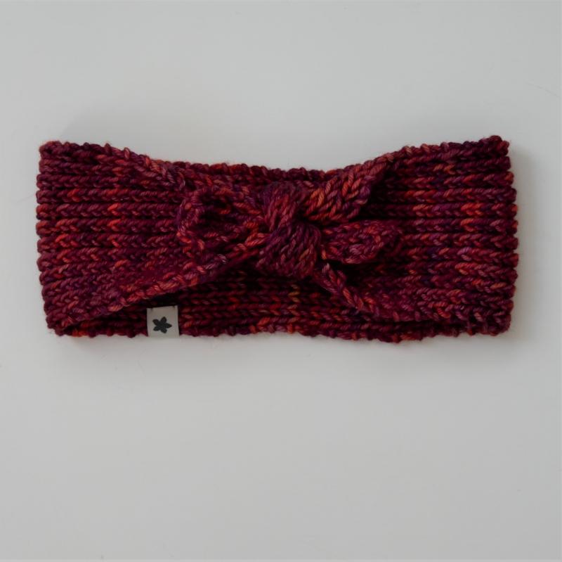 - Knotenstirnband EMMA handgestrickt  Stirnband für Mädchen  von zimtbienchen   - Knotenstirnband EMMA handgestrickt  Stirnband für Mädchen  von zimtbienchen