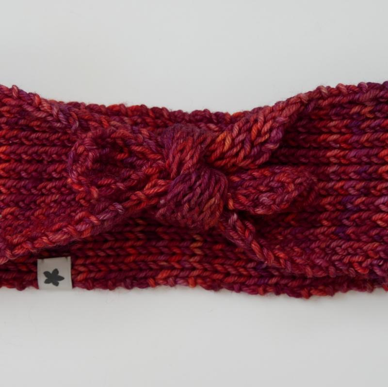 Kleinesbild - Knotenstirnband EMMA handgestrickt  Stirnband für Mädchen  von zimtbienchen