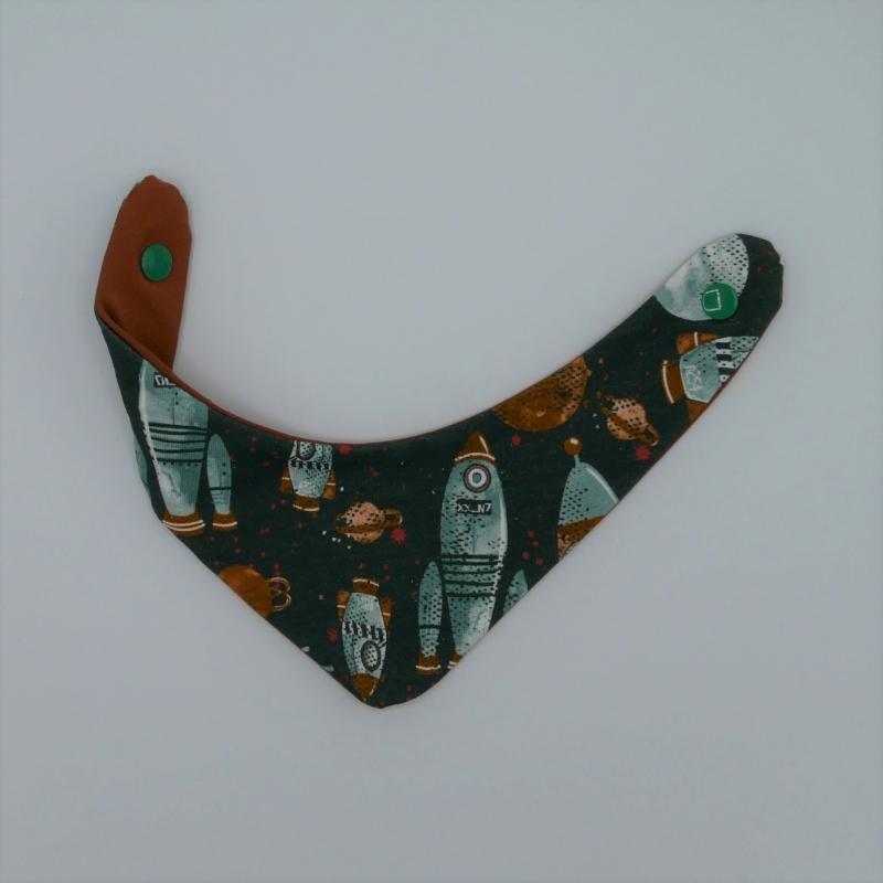 Kleinesbild - ASTRONAUT 2-teiliges Neugeborenenset  Halstuch und Pumphose für Baby von zimtbienchen