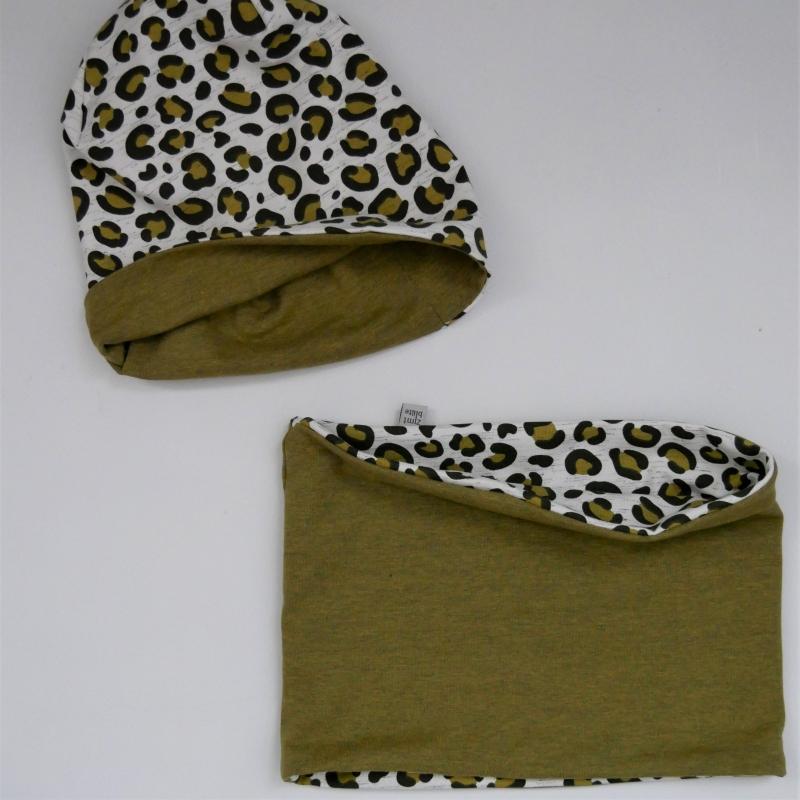 Kleinesbild - LEO Wendebeanie und Schlauchschal 2-teiliges Set für Baby und Kind von zimtbienchen