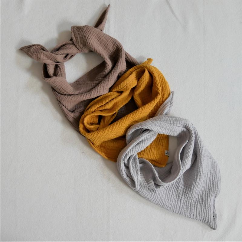 - Halstuch MUSSELIN  für Baby und Kind genäht vom zimtbienchen zum wenden  - Halstuch MUSSELIN  für Baby und Kind genäht vom zimtbienchen zum wenden