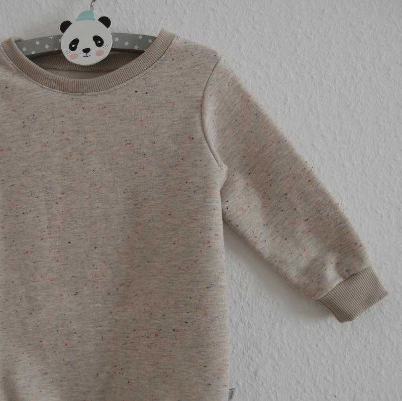 Kleinesbild - KONFETTI Longsweater oder Kleid mit Langarm  Kind Handarbeit von zimtbienchen