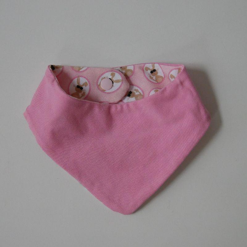 Kleinesbild - Neugeborenenset HASE 2-teilig  Wendehalstuch Pumphose für Baby GRöße 56 von zimtbienchen