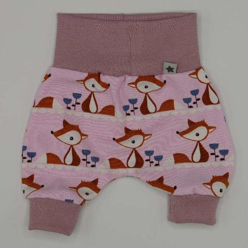 Kleinesbild - Pumphöschen FUCHS rosa für Frühchen handmade  BIOBaumwolle zimtbienchen Baby