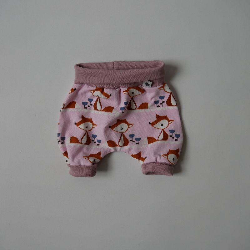 - Pumphöschen FUCHS rosa für Frühchen handmade  BIOBaumwolle zimtbienchen Baby  - Pumphöschen FUCHS rosa für Frühchen handmade  BIOBaumwolle zimtbienchen Baby