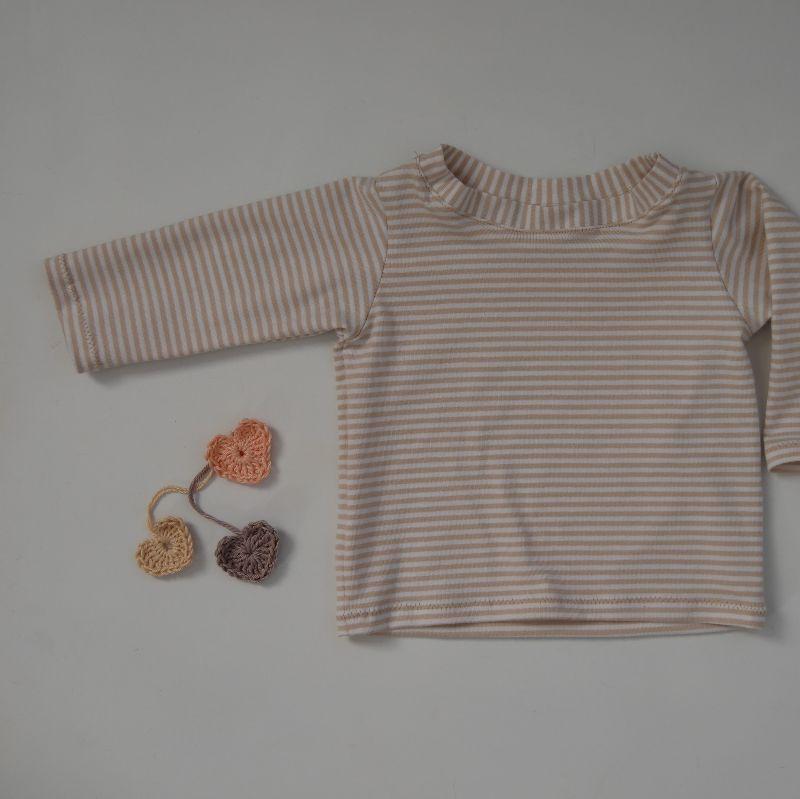 Kleinesbild - Baby STREIFEN Shirt mit Langarm  Handarbeit von zimtbienchen