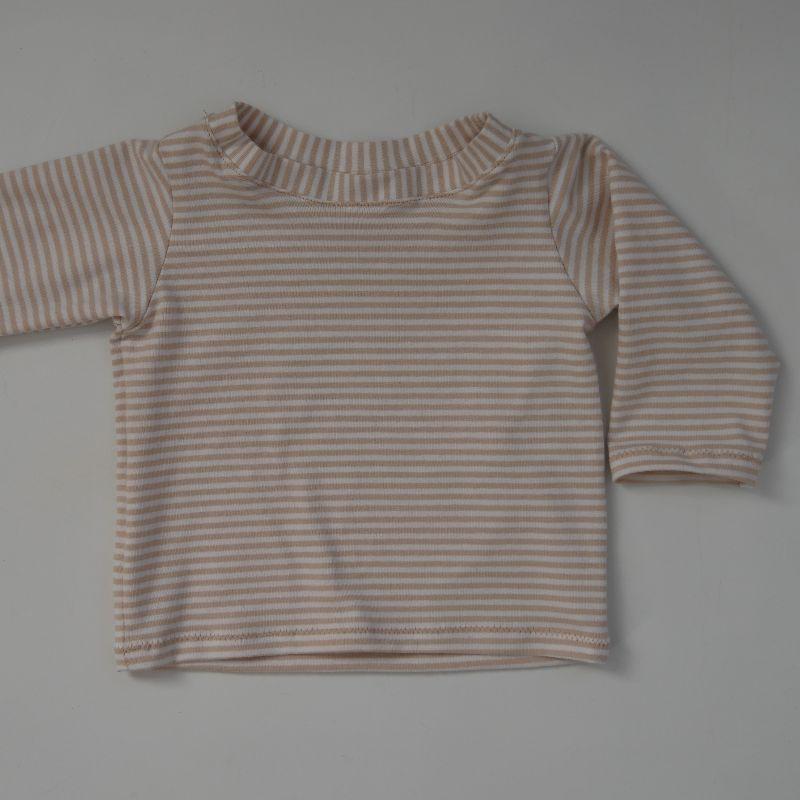 - Baby STREIFEN Shirt mit Langarm  Handarbeit von zimtbienchen   - Baby STREIFEN Shirt mit Langarm  Handarbeit von zimtbienchen
