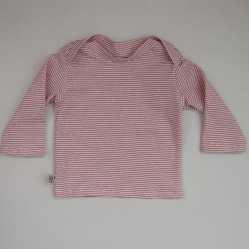 - Baby STREIFEN in Puder Shirt Langarm  Handarbeit  zimtbienchen    - Baby STREIFEN in Puder Shirt Langarm  Handarbeit  zimtbienchen