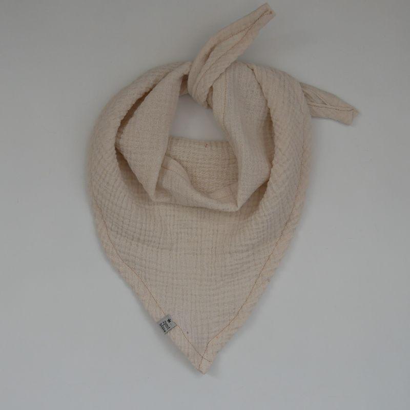 - Halstuch aus MUSSELIN in CREME Dreieckstuch für Baby Kind  zimtbienchen   - Halstuch aus MUSSELIN in CREME Dreieckstuch für Baby Kind  zimtbienchen