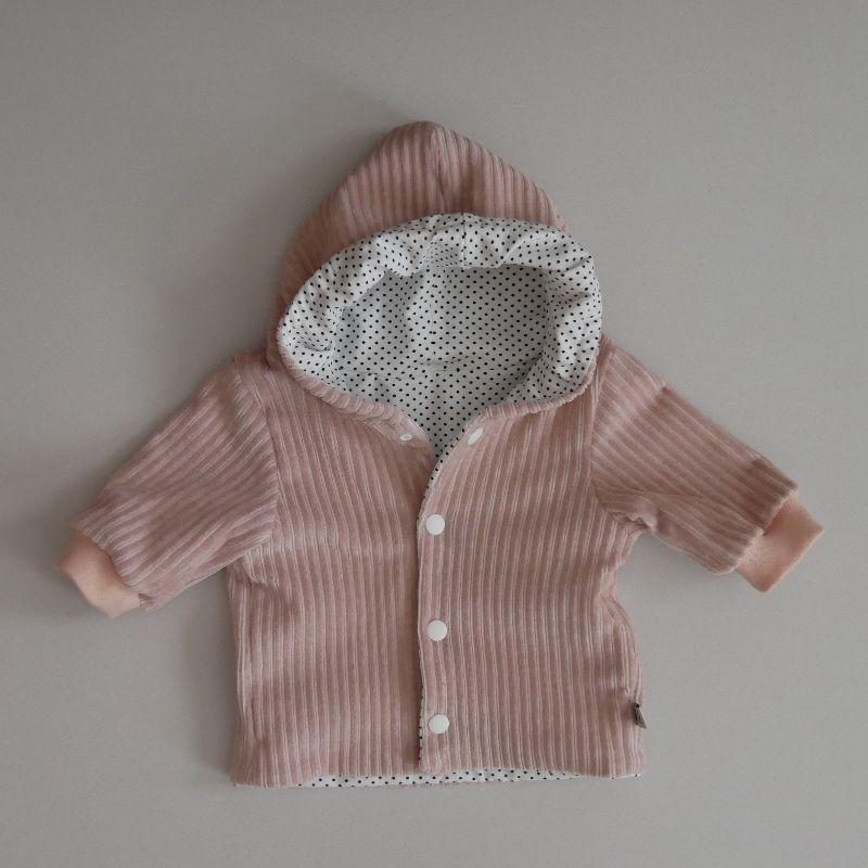 - Babyjacke mit Kapuze NUDE aus CORDJERSEY von zimtbienchen Gr. 56 - 86  Baby  - Babyjacke mit Kapuze NUDE aus CORDJERSEY von zimtbienchen Gr. 56 - 86  Baby
