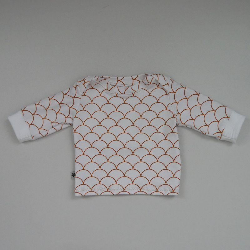 - Langarm Shirt WELLEN Handarbeit  zimtbienchen    - Langarm Shirt WELLEN Handarbeit  zimtbienchen