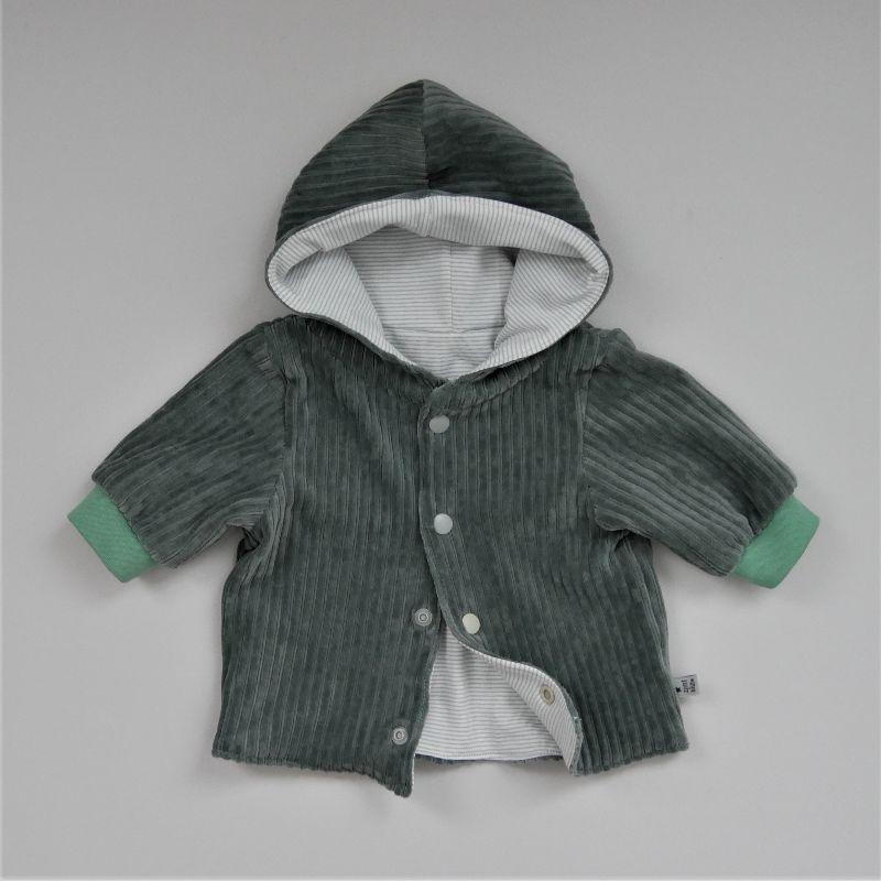 - Babyjacke mit Kapuze DUSTYMINT aus CORDJERSEY von zimtbienchen Gr. 56 - 86  Baby  - Babyjacke mit Kapuze DUSTYMINT aus CORDJERSEY von zimtbienchen Gr. 56 - 86  Baby