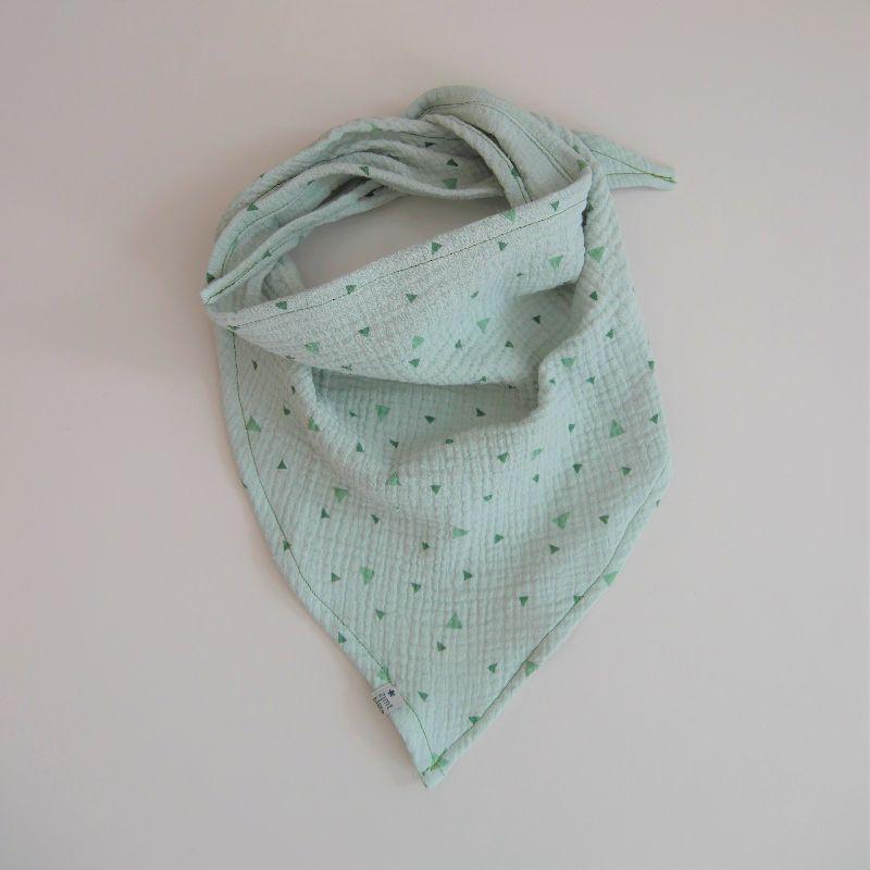 - MINT Dreieckstuch aus Musselin Halstuch für Baby und Kind zimtbienchen     - MINT Dreieckstuch aus Musselin Halstuch für Baby und Kind zimtbienchen