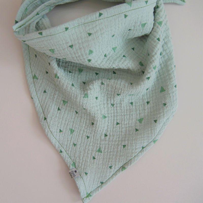 Kleinesbild - MINT Dreieckstuch aus Musselin Halstuch für Baby und Kind zimtbienchen