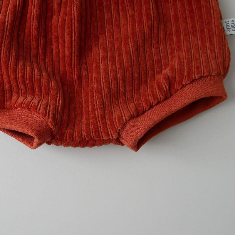 Kleinesbild - BUMMIE KUPFER Cordjersey kurze Hose Handarbeit Windelhöschen von zimtbienchen für Baby / Kind