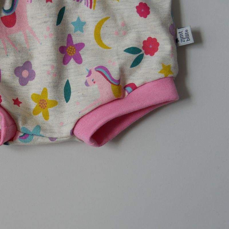 Kleinesbild - EINHORN BUMMIE kurze Hose Handarbeit Windelhöschen von zimtbienchen für Baby