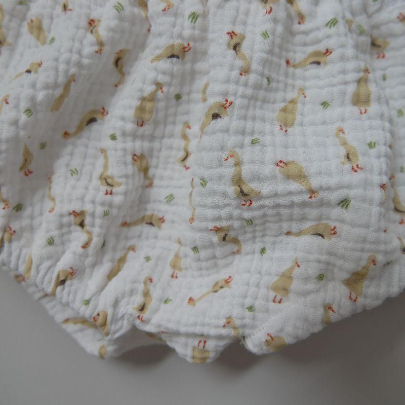 Kleinesbild - BUMMIE GÄNSCHEN Musselin Bloomers kurze Hose   von zimtbienchen für Baby / Kind